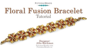 How to Bead Jewelry / Videos Sorted by Beads / All Other Bead Videos / Floral Fusion Bracelet Tutorial