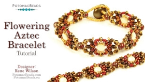 How to Bead / Videos Sorted by Beads / SuperDuo & MiniDuo Videos / Flowering Aztec Bracelet Tutorial