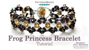 How to Bead Jewelry / Videos Sorted by Beads / CzechMates Bead Videos / Frog Princess Bracelet Tutorial
