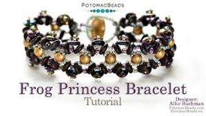How to Bead / Videos Sorted by Beads / RounDuo® & RounDuo® Mini Bead Videos / Frog Princess Bracelet Tutorial
