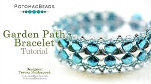 How to Bead Jewelry / Videos Sorted by Beads / Potomac Crystal Videos / Garden Path Bracelet Tutorial