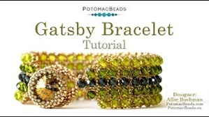 How to Bead Jewelry / Videos Sorted by Beads / Potomac Crystal Videos / Gatsby Bracelet Tutorial