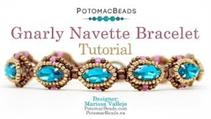 How to Bead Jewelry / Videos Sorted by Beads / Potomac Crystal Videos / Gnarly Navette Bracelet Tutorial