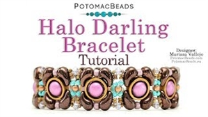 How to Bead / Videos Sorted by Beads / Potomax Metal Bead Videos / Halo Darling Bracelet Tutorial