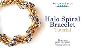 How to Bead / Videos Sorted by Beads / Potomax Metal Bead Videos / Halo Spiral Bracelet Tutorial