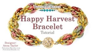 How to Bead Jewelry / Videos Sorted by Beads / CzechMates Bead Videos / Happy Harvest Bracelet Tutorial