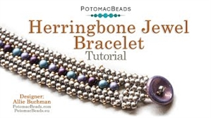 How to Bead / Videos Sorted by Beads / RounDuo® & RounDuo® Mini Bead Videos / Herringbone Jewel Bracelet Beadweaving Tutorial