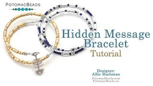 How to Bead Jewelry / Videos Sorted by Beads / Tubelet Bead Videos / Hidden Message Bracelet (Morse Code) Tutorial