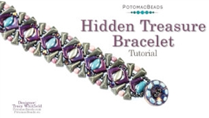 How to Bead Jewelry / Videos Sorted by Beads / Potomac Crystal Videos / Hidden Treasure Bracelet Tutorial
