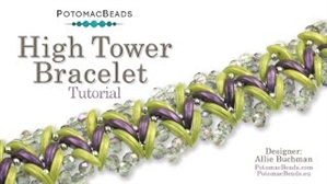 How to Bead Jewelry / Videos Sorted by Beads / Potomac Crystal Videos / High Tower Bracelet Tutorial