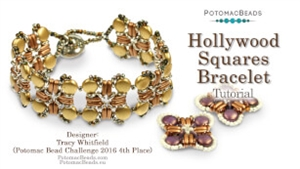 How to Bead / Videos Sorted by Beads / DiscDuo® Bead Videos / Hollywood Squares Bracelet Tutorial