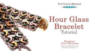 How to Bead Jewelry / Videos Sorted by Beads / Potomac Crystal Videos / Hour Glass Bracelet Tutorial
