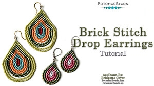 How to Bead / Free Video Tutorials / Earring Projects / Brick Stitch Drop Earrings Tutorial