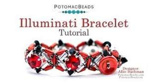 How to Bead / Videos Sorted by Beads / Tubelet Bead Videos / Illuminati Bracelet Tutorial