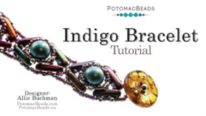 How to Bead / Videos Sorted by Beads / Cabochon Videos / Indigo Bracelet Beadweaving Tutorial