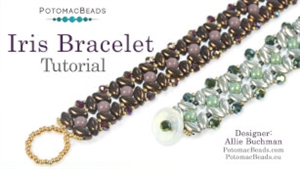 How to Bead Jewelry / Videos Sorted by Beads / Potomac Crystal Videos / Iris Bracelet Tutorial