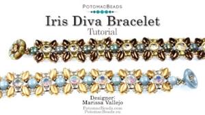 How to Bead / Videos Sorted by Beads / RounTrio® & RounTrio® Faceted Bead Videos / Iris Diva Bracelet Tutorial
