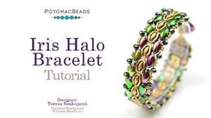 How to Bead / Videos Sorted by Beads / Potomax Metal Bead Videos / Iris Halo Bracelet Tutorial