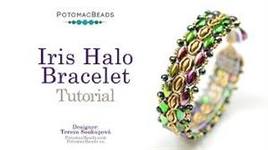 How to Bead Jewelry / Videos Sorted by Beads / Potomax Metal Bead Videos / Iris Halo Bracelet Tutorial