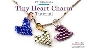 How to Bead Jewelry / Beading Tutorials & Jewel Making Videos / Beadweaving & Component Projects / Tiny Heart Charm Tutorial
