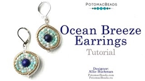 How to Bead Jewelry / Beading Tutorials & Jewel Making Videos / Wire Working Projects / Ocean Breeze Earrings Tutorial
