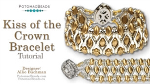 How to Bead Jewelry / Videos Sorted by Beads / Potomac Crystal Videos / Kiss of the Crown Bracelet Tutorial