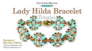 How to Bead / Videos Sorted by Beads / Potomax Metal Bead Videos / Lady Hilda Bracelet Tutorial