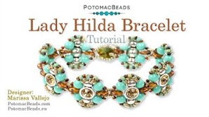 How to Bead Jewelry / Videos Sorted by Beads / Potomax Metal Bead Videos / Lady Hilda Bracelet Tutorial
