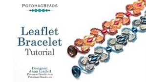 How to Bead Jewelry / Videos Sorted by Beads / StormDuo Bead Videos / Leaflet Bracelet Tutorial
