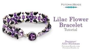 How to Bead / Videos Sorted by Beads / IrisDuo® Bead Videos / Lilac Flower Bracelet Beadweaving Tutorial