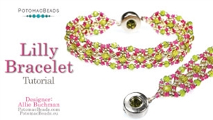 How to Bead Jewelry / Videos Sorted by Beads / Potomax Metal Bead Videos / Lilly Bracelet Tutorial