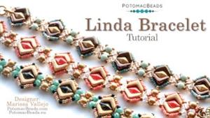How to Bead / Videos Sorted by Beads / Diamond Shaped Bead Videos / Linda Bracelet Tutorial