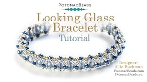 How to Bead Jewelry / Videos Sorted by Beads / Potomac Crystal Videos / Looking Glass Bracelet Tutorial
