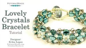 How to Bead / Videos Sorted by Beads / DiscDuo® Bead Videos / Lovely Crystals Bracelet Tutorial