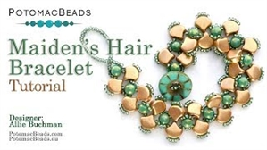 How to Bead / Videos Sorted by Beads / Ginko Bead Videos / Maiden's Hair (Ginko) Bracelet Tutorial