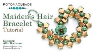 How to Bead / Videos Sorted by Beads / RounDuo® & RounDuo® Mini Bead Videos / Maiden's Hair (Ginko) Bracelet Tutorial