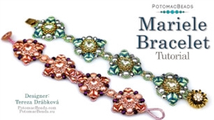 How to Bead Jewelry / Videos Sorted by Beads / Cabochon Videos / Mariele Bracelet Tutorial