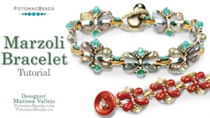 How to Bead Jewelry / Videos Sorted by Beads / ZoliDuo and Paisley Duo Bead Videos / Marzoli Bracelet Tutorial