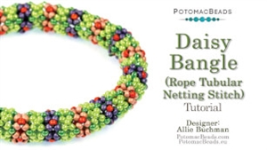 How to Bead Jewelry / Beading Tutorials & Jewel Making Videos / Bracelet Projects / Daisy Bangle Rope Tutorial