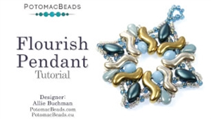 How to Bead / Videos Sorted by Beads / Potomax Metal Bead Videos / Flourish Pendant Tutorial