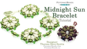 How to Bead / Videos Sorted by Beads / Potomac Crystal Videos / Midnight Sun Bracelet Tutorial