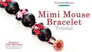 How to Bead Jewelry / Videos Sorted by Beads / Potomac Crystal Videos / Mimi Mouse Bracelet Tutorial
