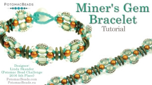 How to Bead Jewelry / Videos Sorted by Beads / CzechMates Bead Videos / Miner's Gem Bracelet Tutorial