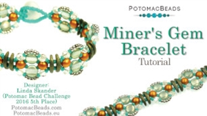 How to Bead Jewelry / Videos Sorted by Beads / Potomac Crystal Videos / Miner's Gem Bracelet Tutorial