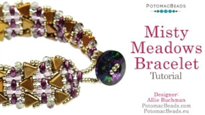 How to Bead Jewelry / Videos Sorted by Beads / Par Puca® Bead Videos / Misty Meadows Bracelet Tutorial