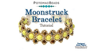 How to Bead / Videos Sorted by Beads / Cabochon Videos / Moonstruck Bracelet Tutorial