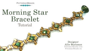 How to Bead / Videos Sorted by Beads / Par Puca® Bead Videos / Morning Star Bracelet Tutorial