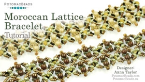 How to Bead Jewelry / Videos Sorted by Beads / Potomac Crystal Videos / Moroccan Lattice Bracelet Tutorial