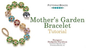How to Bead / Videos Sorted by Beads / Cabochon Videos / Mother's Garden Bracelet Tutorial