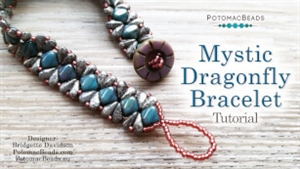 How to Bead Jewelry / Videos Sorted by Beads / Silky and Mini Silky Bead Videos / Mystic Dragonfly Bracelet Tutorial